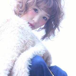 大人女子 小顔 かわいい ボブ ヘアスタイルや髪型の写真・画像