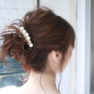 簡単ヘアアレンジ ヘアアレンジ セミロング 大人女子 ヘアスタイルや髪型の写真・画像