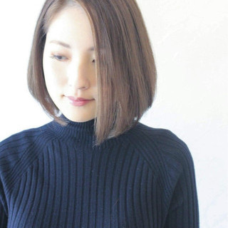 小顔 女子力 大人女子 ボブ ヘアスタイルや髪型の写真・画像