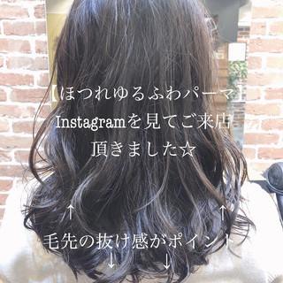 ゆるふわパーマ ナチュラル デジタルパーマ ヘアスタイル ヘアスタイルや髪型の写真・画像