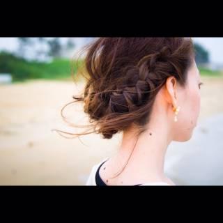 ヘアアレンジ ハイライト ヘアスタイルや髪型の写真・画像