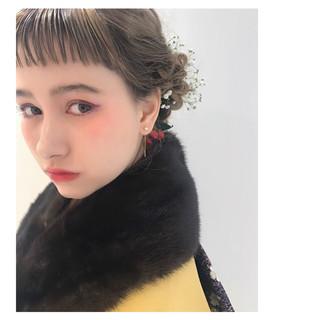 ヘアアレンジ ショート ナチュラル ミルクティー ヘアスタイルや髪型の写真・画像