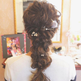 フェミニン 外国人風 結婚式 ロング ヘアスタイルや髪型の写真・画像