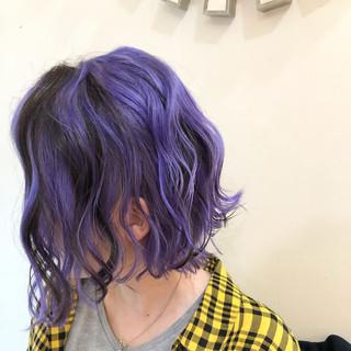 ストリート ボブ グラデーションカラー インナーカラー ヘアスタイルや髪型の写真・画像