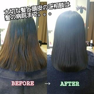 ロング ナチュラル 髪質改善 美髪 ヘアスタイルや髪型の写真・画像