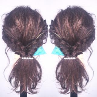 ショート 大人女子 ロング 簡単ヘアアレンジ ヘアスタイルや髪型の写真・画像