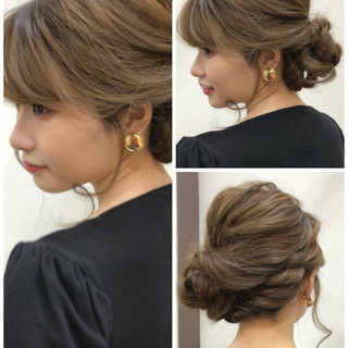 ゆるふわセット デート フェミニン 結婚式 ヘアスタイルや髪型の写真・画像