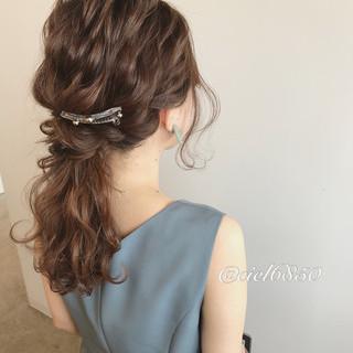 結婚式 ショート ミディアム 謝恩会 ヘアスタイルや髪型の写真・画像