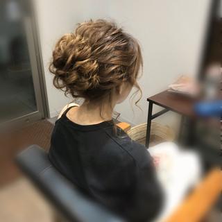 ヘアアレンジ ミディアム アップスタイル パーティ ヘアスタイルや髪型の写真・画像