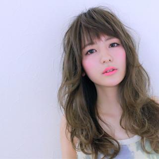 前髪あり ハイライト 大人かわいい フェミニン ヘアスタイルや髪型の写真・画像