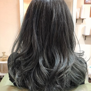 バレイヤージュ ロング 外国人風カラー ブルージュ ヘアスタイルや髪型の写真・画像