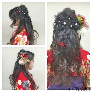 ロング ヘアアレンジ 成人式 謝恩会 ヘアスタイルや髪型の写真・画像