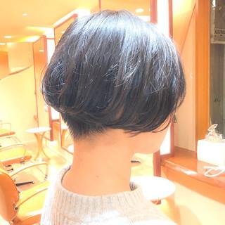 前下がり ショートボブ ショート ボブ ヘアスタイルや髪型の写真・画像