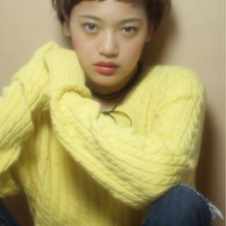ショート ストリート グラデーションカラー 外国人風 ヘアスタイルや髪型の写真・画像