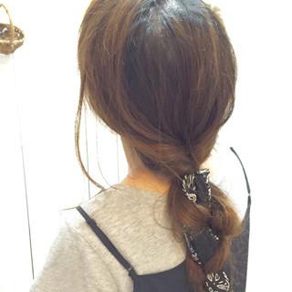 三つ編み ヘアアレンジ ショート バンダナ ヘアスタイルや髪型の写真・画像