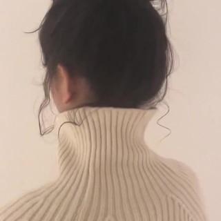 フェミニン アンニュイほつれヘア ヘアアレンジ デート ヘアスタイルや髪型の写真・画像
