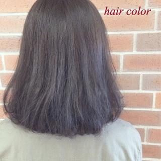 ボブ グラデーションカラー ハイライト アッシュ ヘアスタイルや髪型の写真・画像
