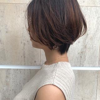 フェミニン モテ髪 ショート デート ヘアスタイルや髪型の写真・画像