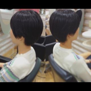 ナチュラル ショートヘア ベリーショート ミニボブ ヘアスタイルや髪型の写真・画像