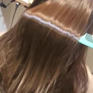髪質改善トリートメント ロング ナチュラル 髪質改善 ヘアスタイルや髪型の写真・画像
