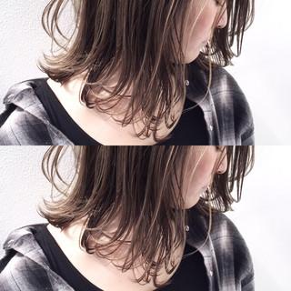 ボブ グレージュ こなれ感 ロブ ヘアスタイルや髪型の写真・画像