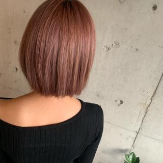 ハイトーン ハイライト ストリート ピンク ヘアスタイルや髪型の写真・画像