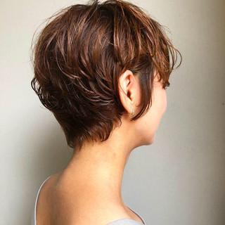 ショート ショートヘア コンサバ 外国人風カラー ヘアスタイルや髪型の写真・画像