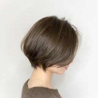 ショートボブ シアーベージュ ボブ ショートヘア ヘアスタイルや髪型の写真・画像