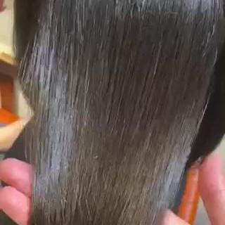 縮毛矯正 まとまるボブ 髪質改善 艶髪 ヘアスタイルや髪型の写真・画像
