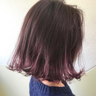 ストリート ロブ ピンク ラベンダーピンク ヘアスタイルや髪型の写真・画像