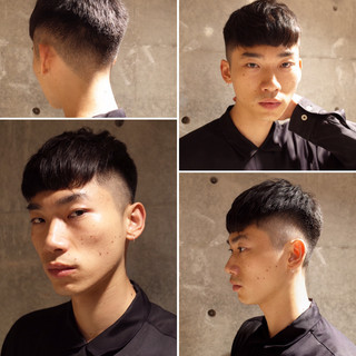 ショート ツーブロック メンズ ストリート ヘアスタイルや髪型の写真・画像