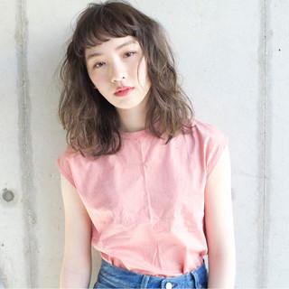 ニュアンス 大人女子 小顔 ハイライト ヘアスタイルや髪型の写真・画像