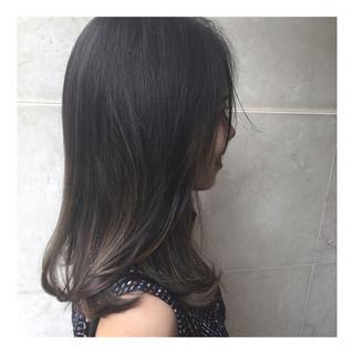 ナチュラル ハイライト セミロング 外国人風カラー ヘアスタイルや髪型の写真・画像