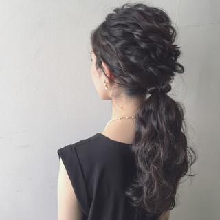 簡単ヘアアレンジ ロング ショート 夏 ヘアスタイルや髪型の写真・画像