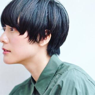 ジェンダーレス こなれ感 モード 小顔 ヘアスタイルや髪型の写真・画像