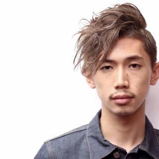 パーマ メンズ 刈り上げ ストリート ヘアスタイルや髪型の写真・画像