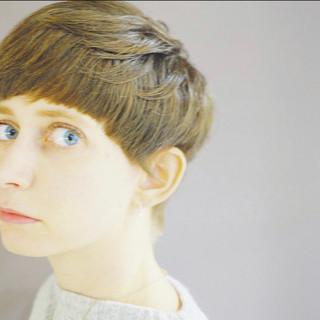 マッシュ ナチュラル マッシュショート ベリーショート ヘアスタイルや髪型の写真・画像