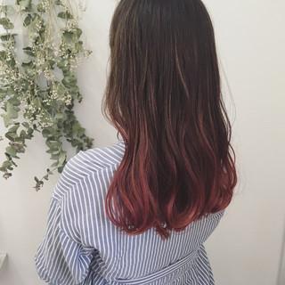 ロング モード 外国人風カラー ハイライト ヘアスタイルや髪型の写真・画像