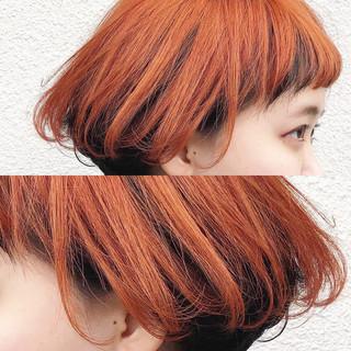 ショートボブ ストリート ダブルカラー 外国人風カラー ヘアスタイルや髪型の写真・画像