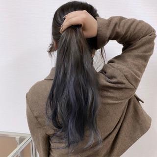 外国人風カラー ロング ハイトーン モード ヘアスタイルや髪型の写真・画像