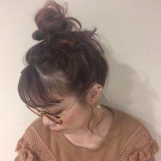 ストリート ヘアアレンジ ピンク グラデーションカラー ヘアスタイルや髪型の写真・画像