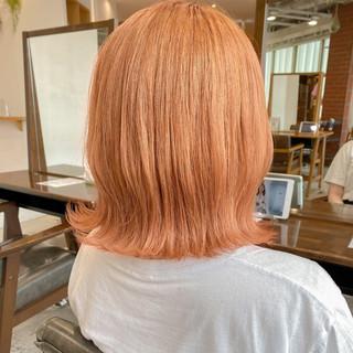 ボブヘアー ボブ デート ナチュラル ヘアスタイルや髪型の写真・画像