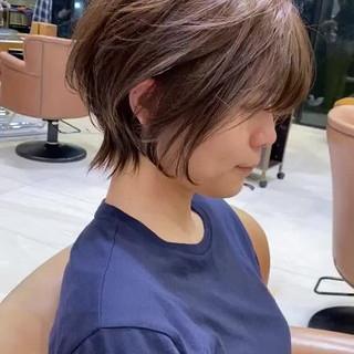 ショートヘア ショート アンニュイほつれヘア デジタルパーマ ヘアスタイルや髪型の写真・画像