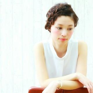 大人かわいい 暗髪 夏 パーティ ヘアスタイルや髪型の写真・画像