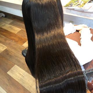 髪質改善 ロング ナチュラル 美髪 ヘアスタイルや髪型の写真・画像