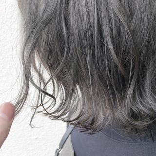 アッシュ ダブルカラー グレージュ 外国人風 ヘアスタイルや髪型の写真・画像
