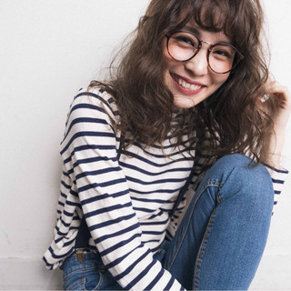 外国人風カラー ハイライト アンニュイ ナチュラル ヘアスタイルや髪型の写真・画像