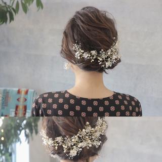 エレガント ヘアアレンジ ボブ 結婚式 ヘアスタイルや髪型の写真・画像