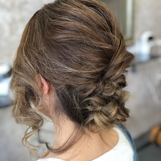 デート ナチュラル 結婚式 夏 ヘアスタイルや髪型の写真・画像
