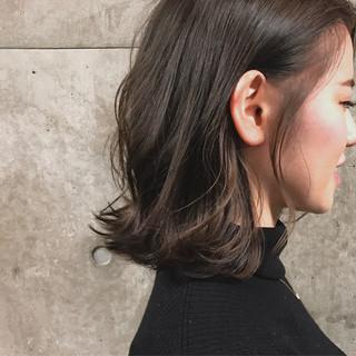 ナチュラル ヘアアレンジ 透明感 ハイライト ヘアスタイルや髪型の写真・画像